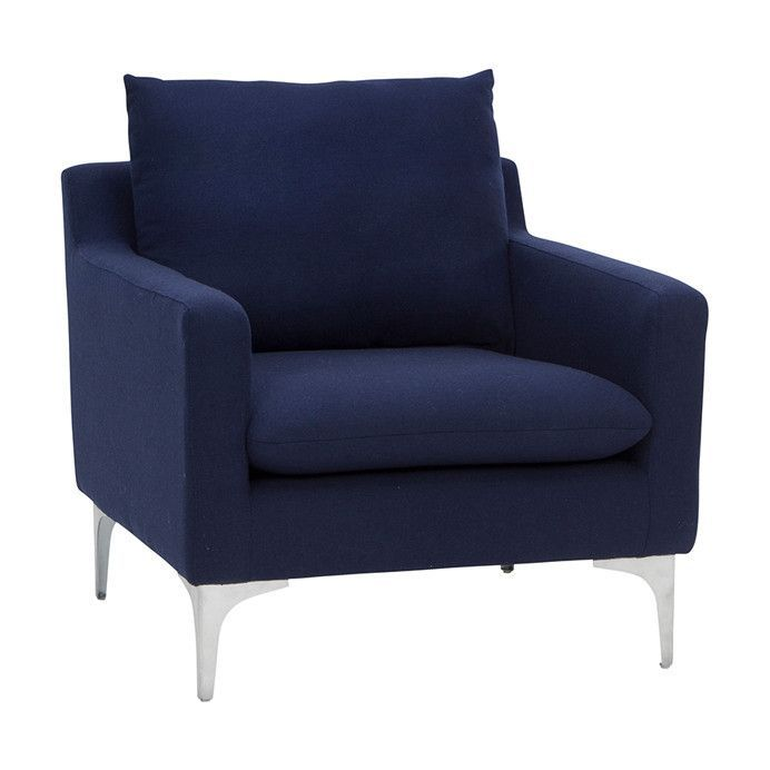 Anders Navy Lounge Chair