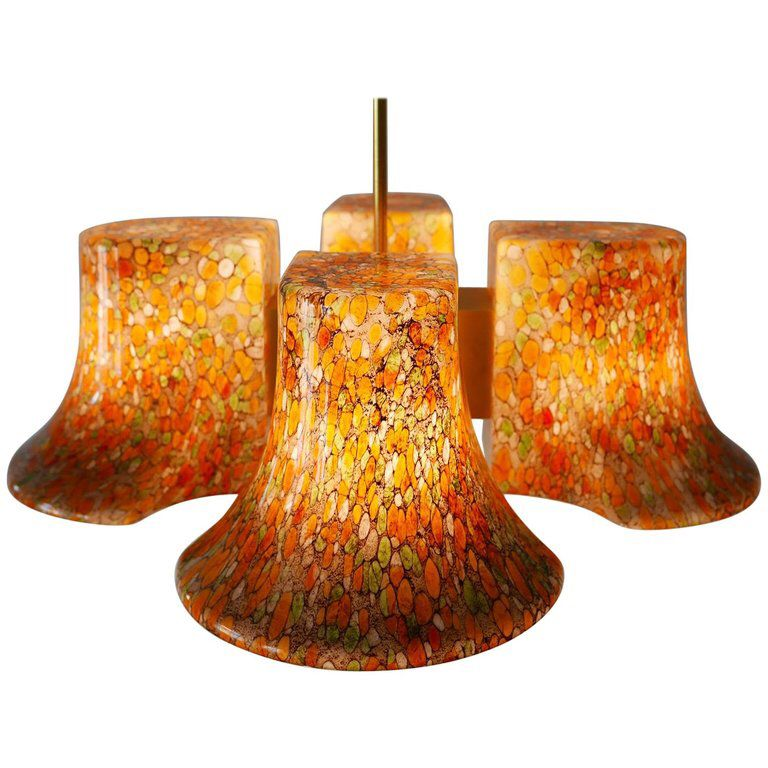 rare midcentury pendant lamp or chandelierpeill and