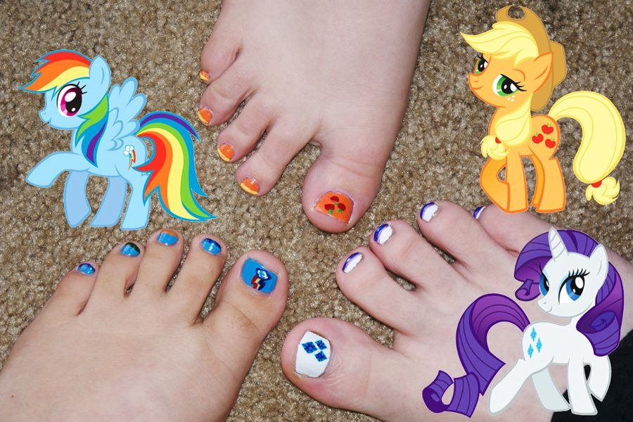 My Little Pony Toes by kinkyfeat   Nail designs   Pinterest