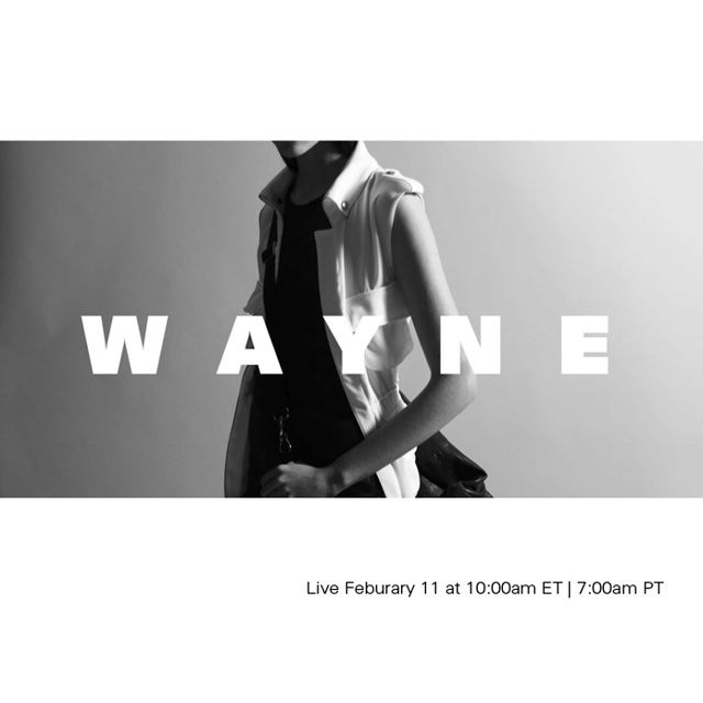 Watch Wayne LIVE with exclusive photo and text updates happening both on & off the runway.