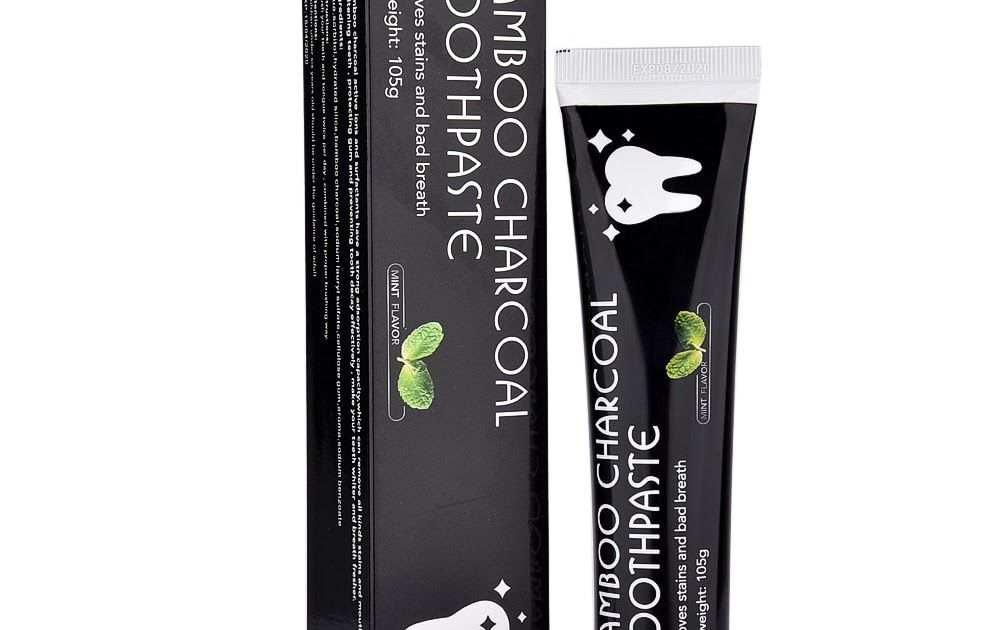 Bamboo natural activated charcoal teeth whitening