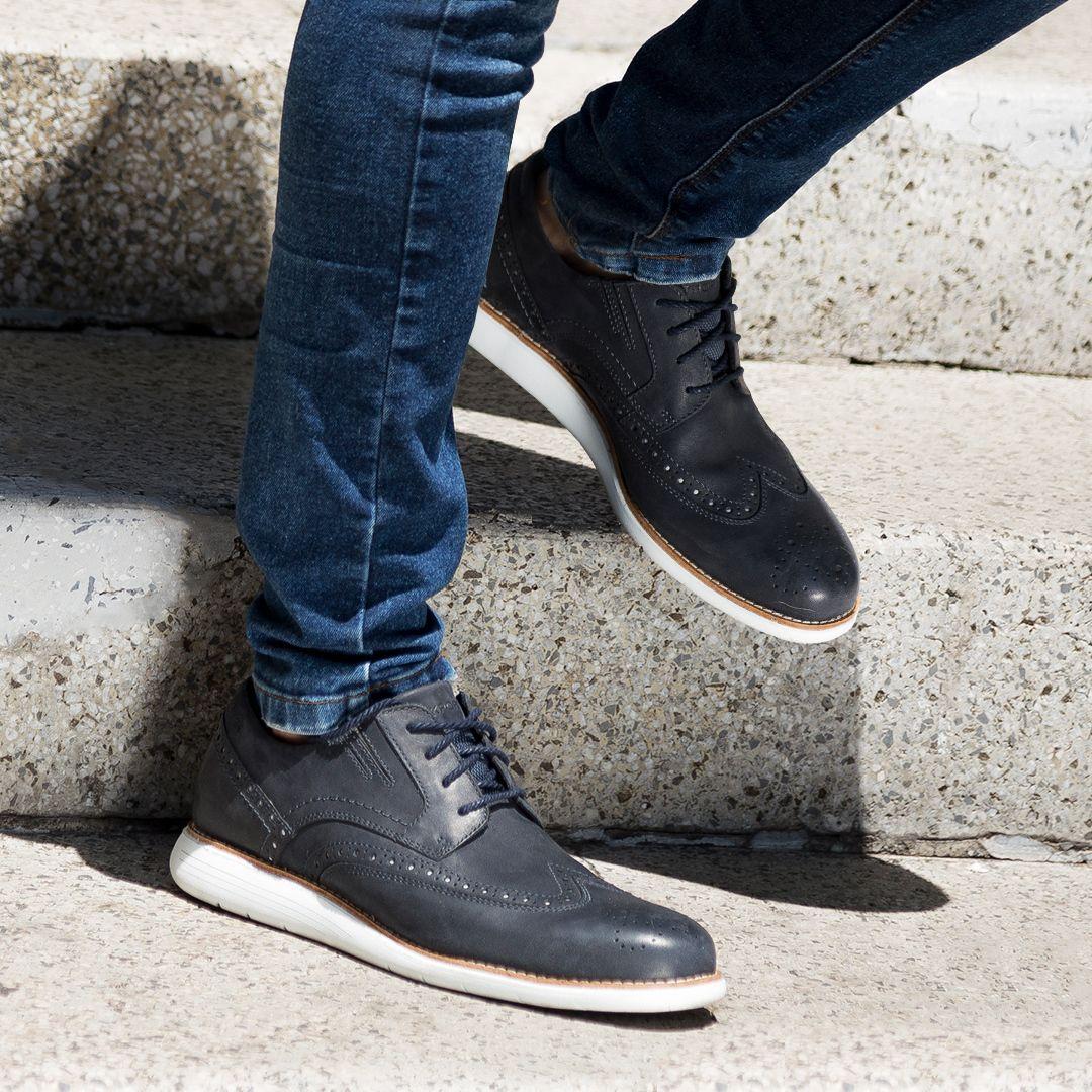 Total Motion Sport Dress Wingtip Dress Shoes Men Mens Fashion Shoes Casual Work Shoes [ 1080 x 1080 Pixel ]
