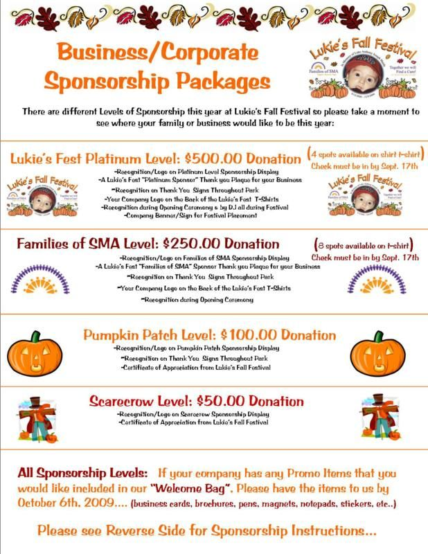 Sponsorship Level Template  Google Search  Harvest Fest