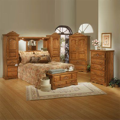 Bebe Furniture Country Heirloom Pier Bedroom Set Medium Oak