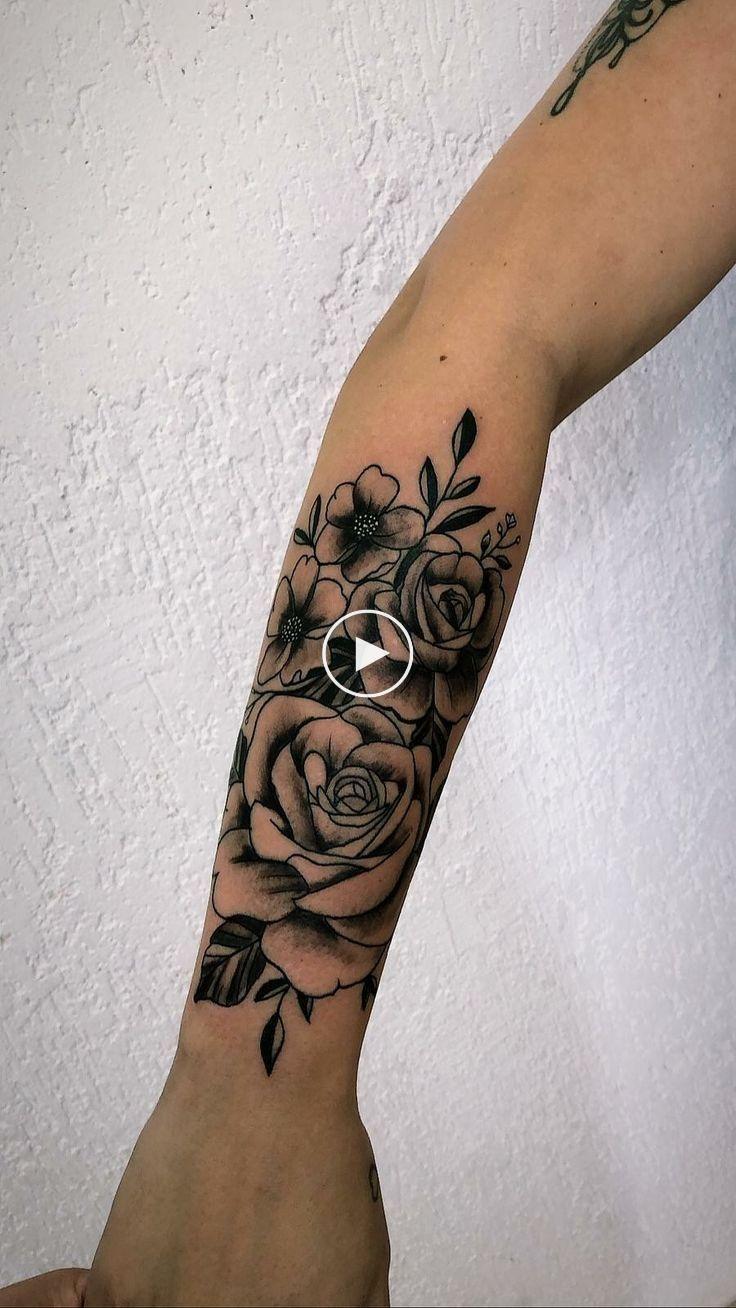 10 Tatuajes de rosas en el brazo mujer