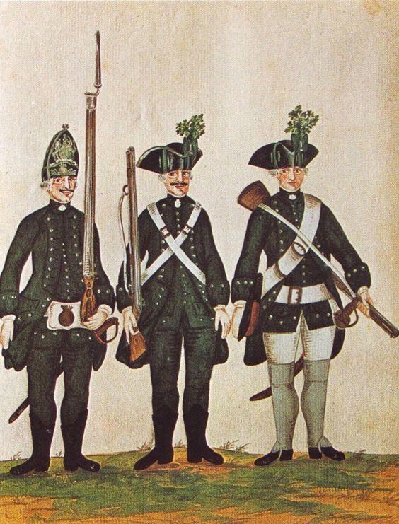 Hanover;Freytag's Jäger Corps, Infantry, c.1757 by Karsten