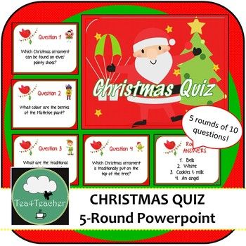 Christmas Quiz Powerpoint with Answers 5 Rounds Medium Level | Christmas quiz, Christmas events ...