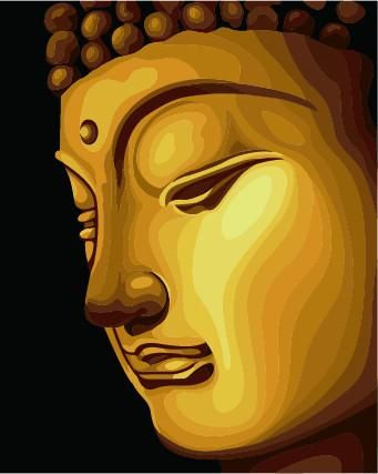 Golden Buddha Canvas Oil Hand Painting Home Decor Wall Art / Modern ...