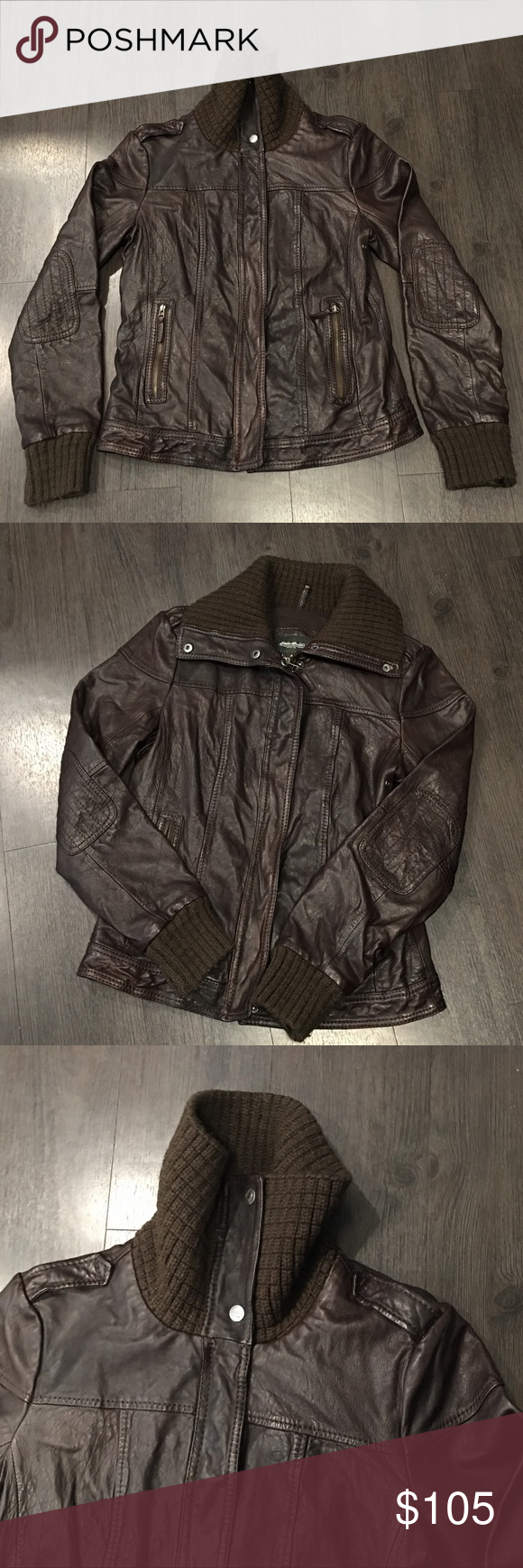 Vintage leather bomber jacket sz small Leather bomber