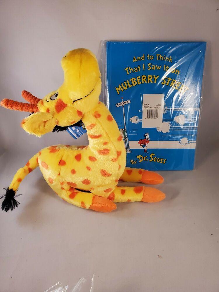 Dr Seuss To Think That I Saw It On Mulberry Street Stuffed Giraffe Plush Book Kohls Giraffe Plush Plush Animals Animal Books