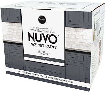 Best Nuvo Earl Grey All In One Cabinet Makeover Kit Charcoal 400 x 300
