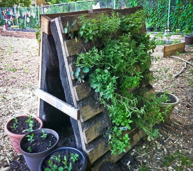 Make A Vertical Garden Planter