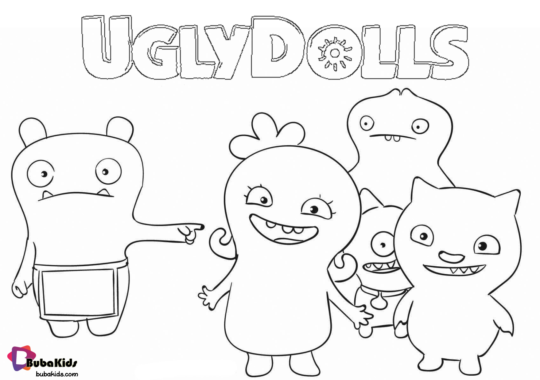 Free Printable Uglydolls Coloring Page With Images