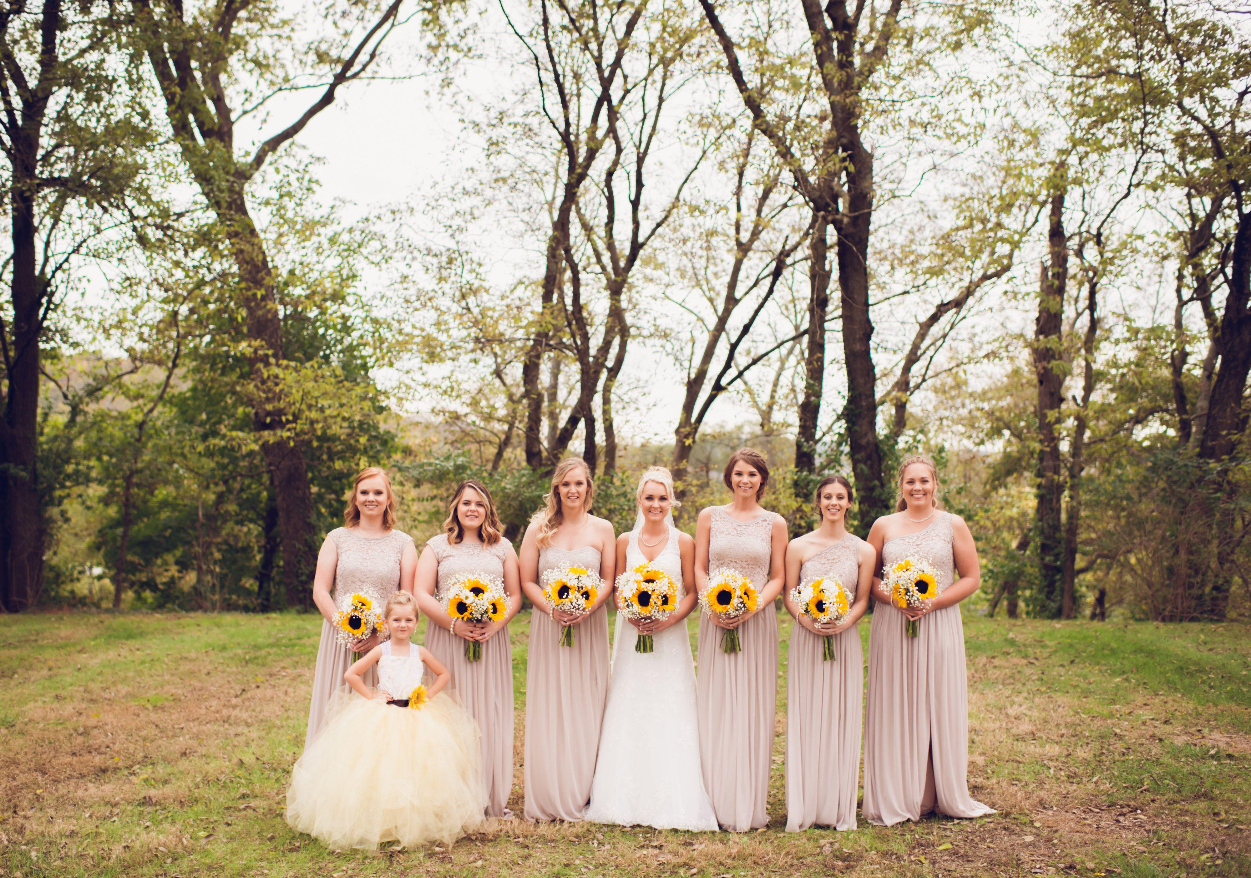 David S Bridal Bridesmaid Dresses Sunflower Wedding Bouquet Taupe Bridesmaid Dresses Biscotti Bridesmaid D Sunflower Wedding Bouquet Wedding Sunflower Wedding [ 2807 x 4000 Pixel ]