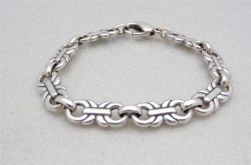 "James Avery Sterling Silver Link Bracelet 8"", 28.9 Grams Retired"