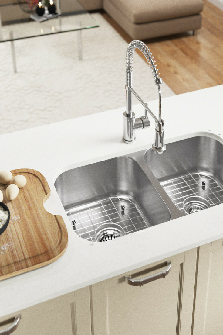 3218A Double Bowl Undermount Stainless Steel Sink In 2020