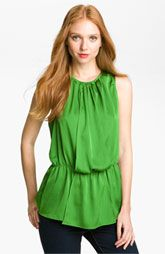 Vince Camuto Pleated Blouson Top