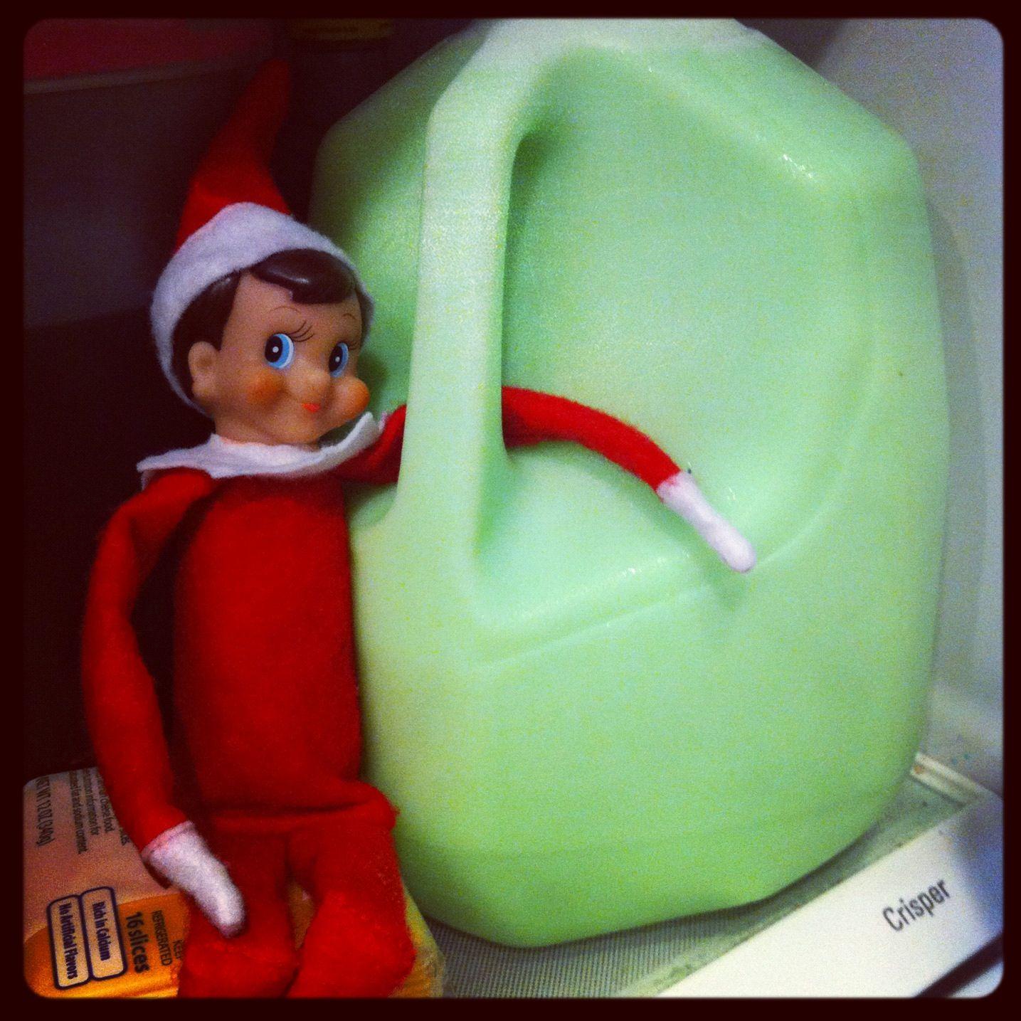 Naughty Elf Turned The Milk Green )