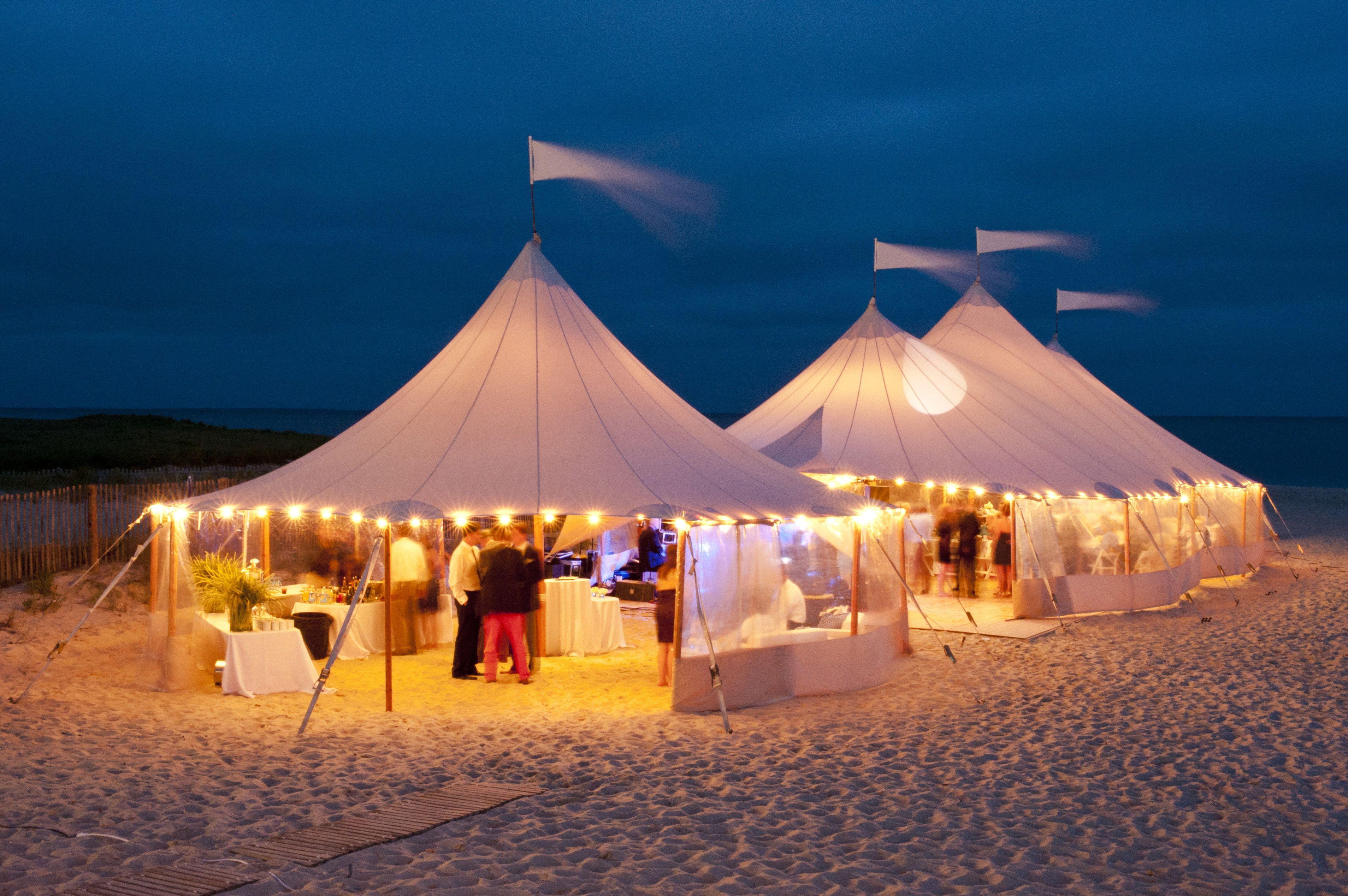 Beach Weddings Cape Cod Weddings Ocean Front Weddings Tented Weddings Tents Night