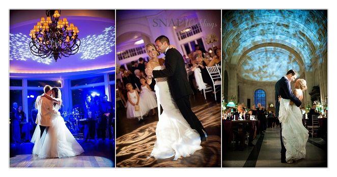 Wedding Reception Lighting, Up Lighting, Oceancliff, Belle Mer, Boston Public Library © Snap Weddings