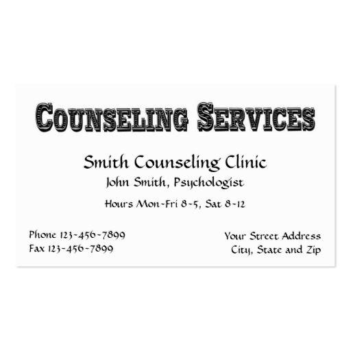 Counselor Psychologist Mental Health Business Card Mental Health
