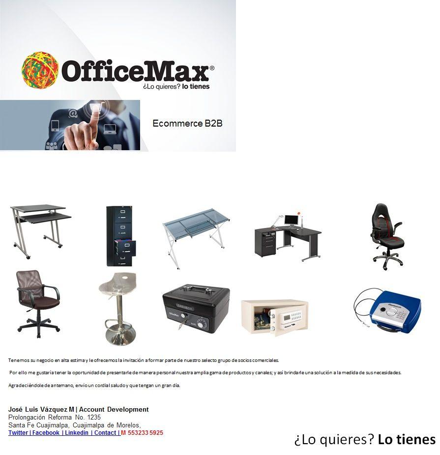 Gran Promoción Exclusiva  OfficeMax | Muebles Importados  Ecommerce B2B | ¿Lo quieres? Lo tienes