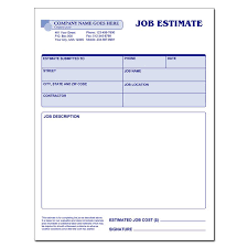 Image Result For Free Printable Estimate Forms  Bids