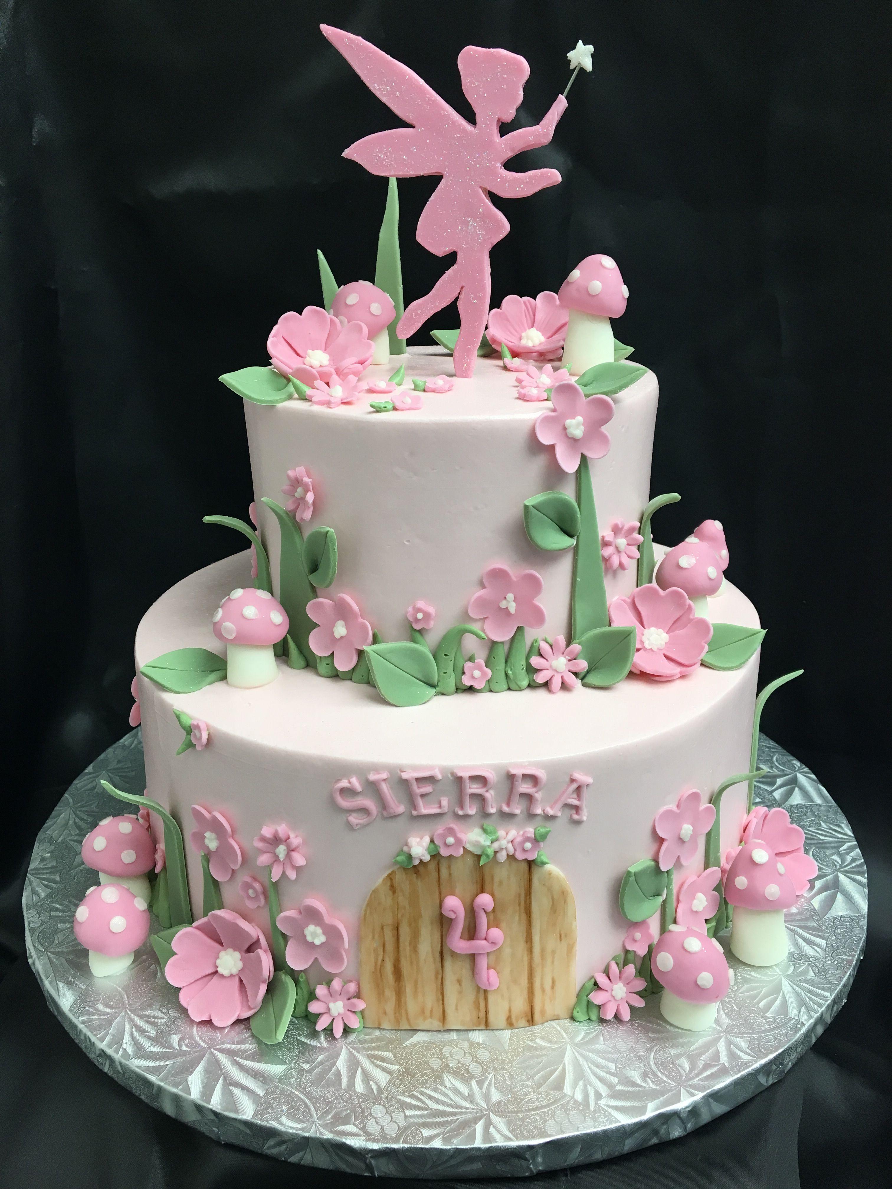 Pink Fairy Fairy Garden Cake Fairy Birthday Cake Fairy Garden