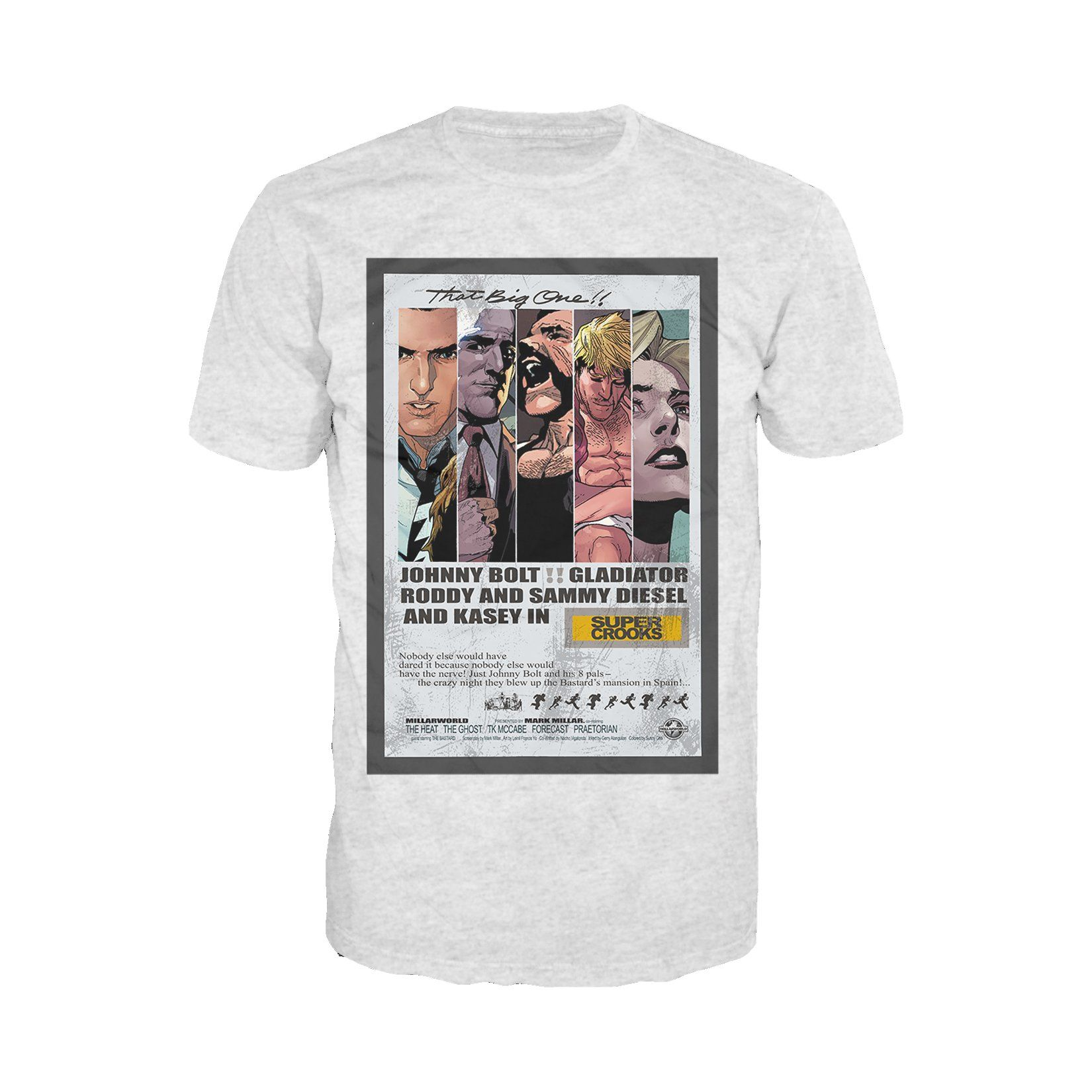 Photo of Supercrooks 60s Ocean Poster Official Men's T-Shirt (Heather Grey) – X-Large / Heather Grey