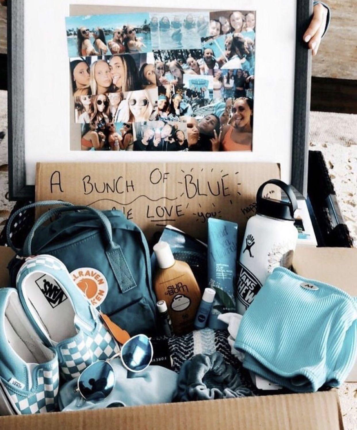 Blue Birthday Box inspo -vsco girl – vsco therapy