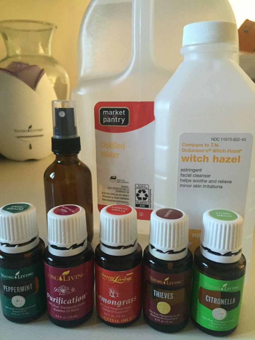 DIY Outdoor Spray Essential oils, Homemade bug spray