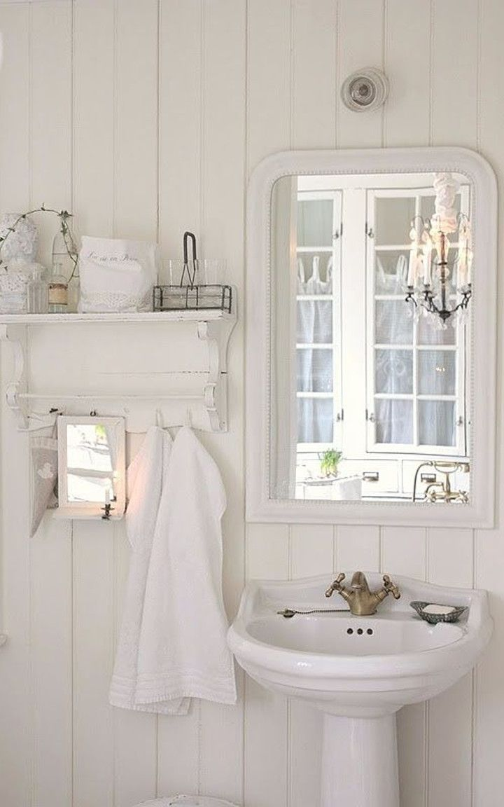 shabby chic bathroom #8 | Clare\'s Bathroom | Pinterest | French ...