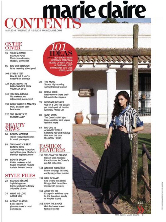 Women S Lifestyle Magazine Contents Page