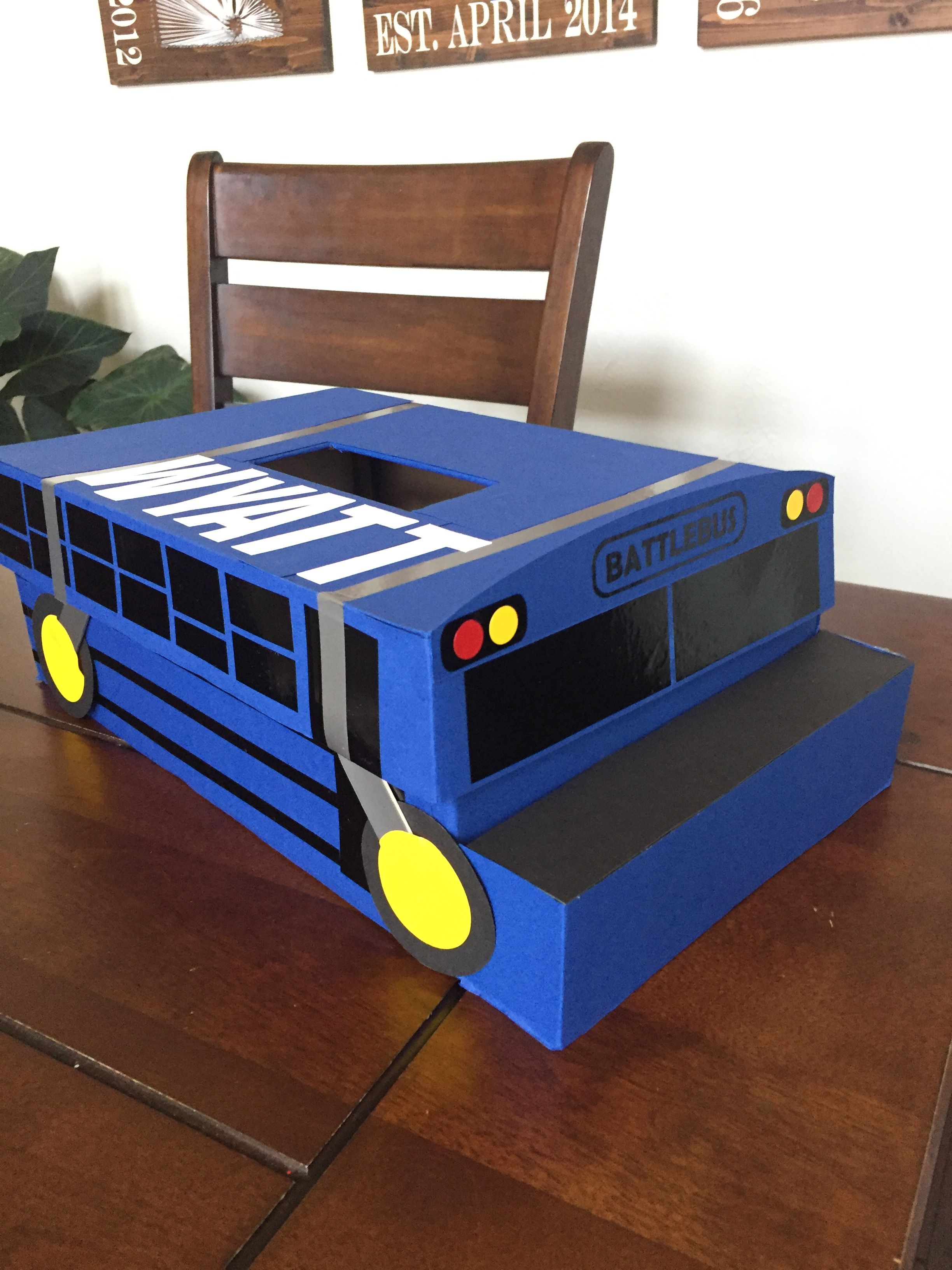 Fortnite battlebus Valentine's Day school box | Kids ...