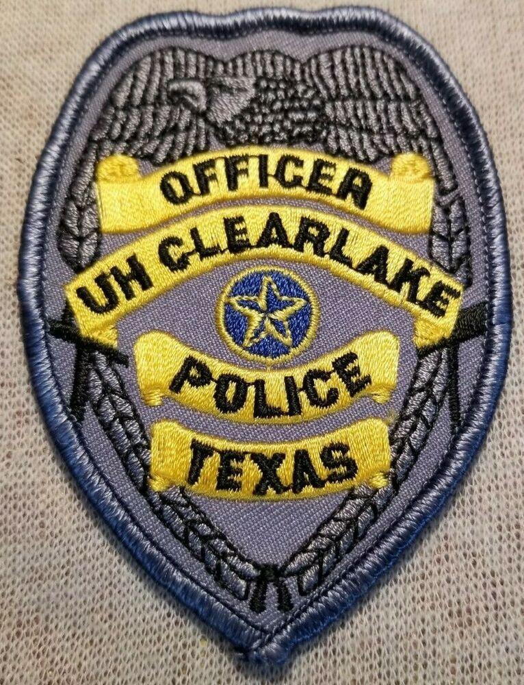 Tx University Of Houston Clear Lake Texas Police Patch 3 5in Texas Police Clear Lake Texas Police Patches