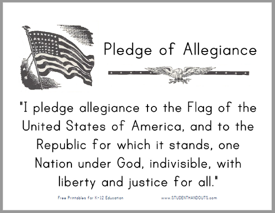 We arrive to class on time free pdf to print for classroom the pledge of allegiance free sign to print for classroom display in print or cursive fandeluxe Choice Image