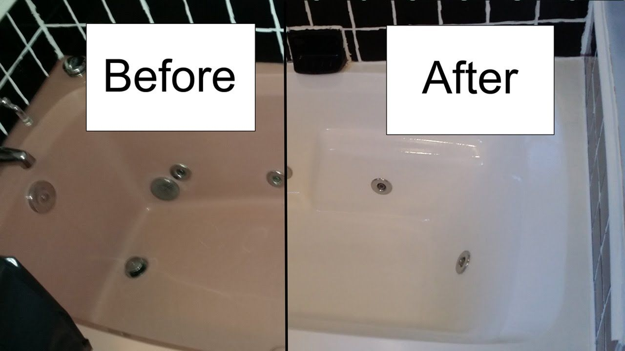 Step by step procedure for refinishing a bath tub with Rustoleum tub ...
