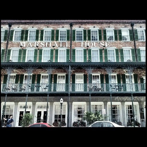The Marshall House Hotel in Savannah • Such a great piece of history and fabulous place to stay!