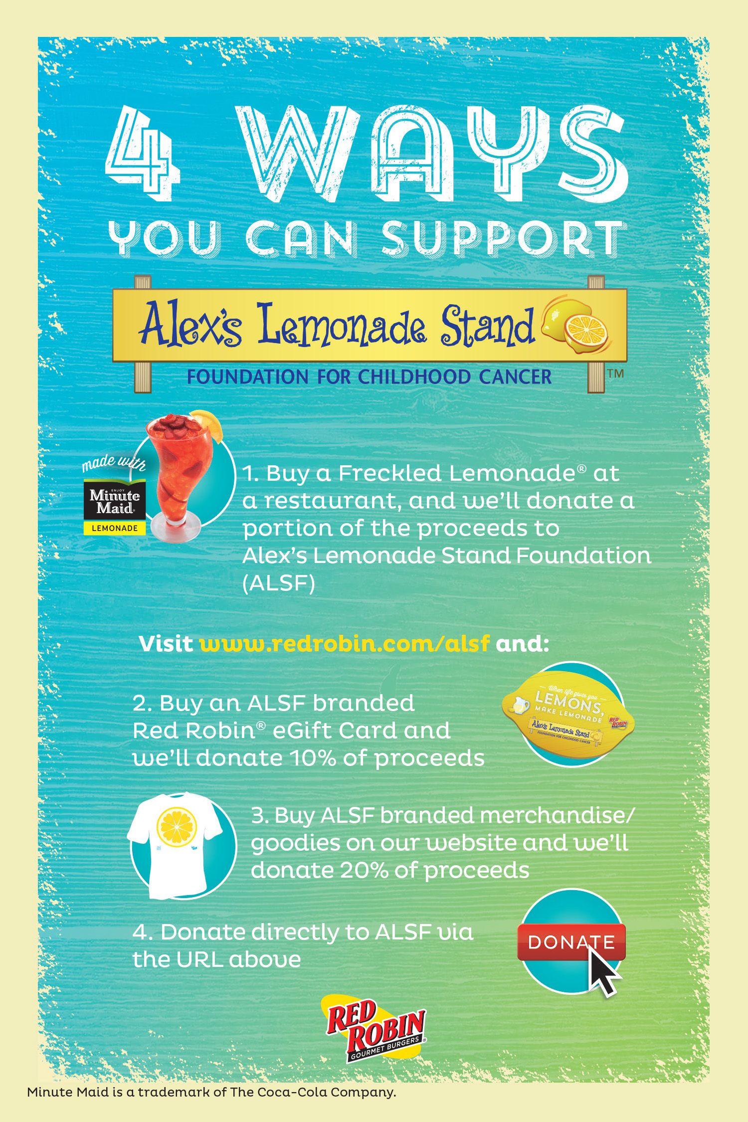 Celebrate national lemonade day with red robin lemonade