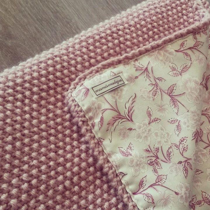 Manta de lana y tela mamamadejas regalos beb s - Lana gorda para mantas ...