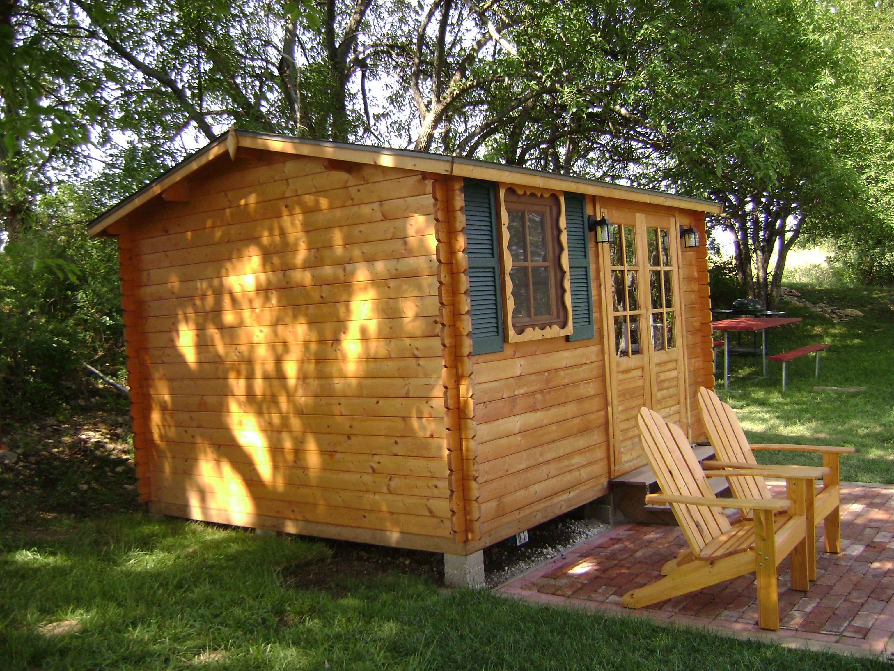 Wonderful Cozy Cottage / Guest House   Paradise 12x10 All Natural Wood Shed (ECO  Garden Sheds)