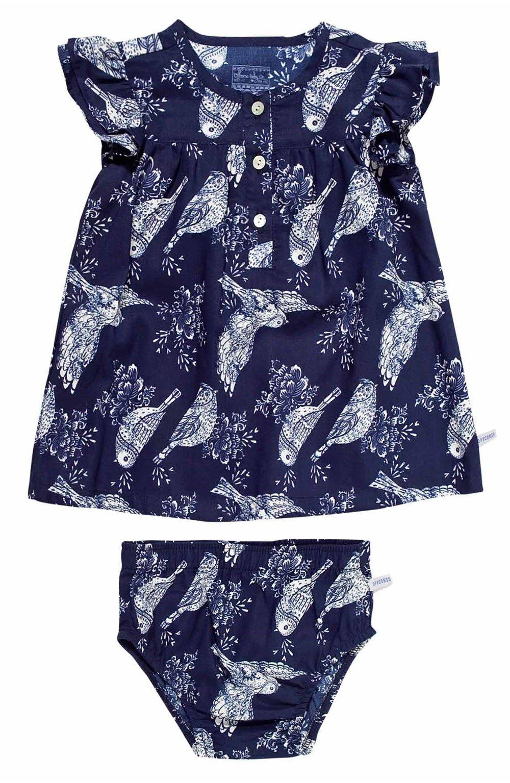42a8d9ec3 Vestido para bebe niña manga corta en tejido plano + calzon. Compra Ropa  para Niño en OFFCORSS.com - OFFCORSS