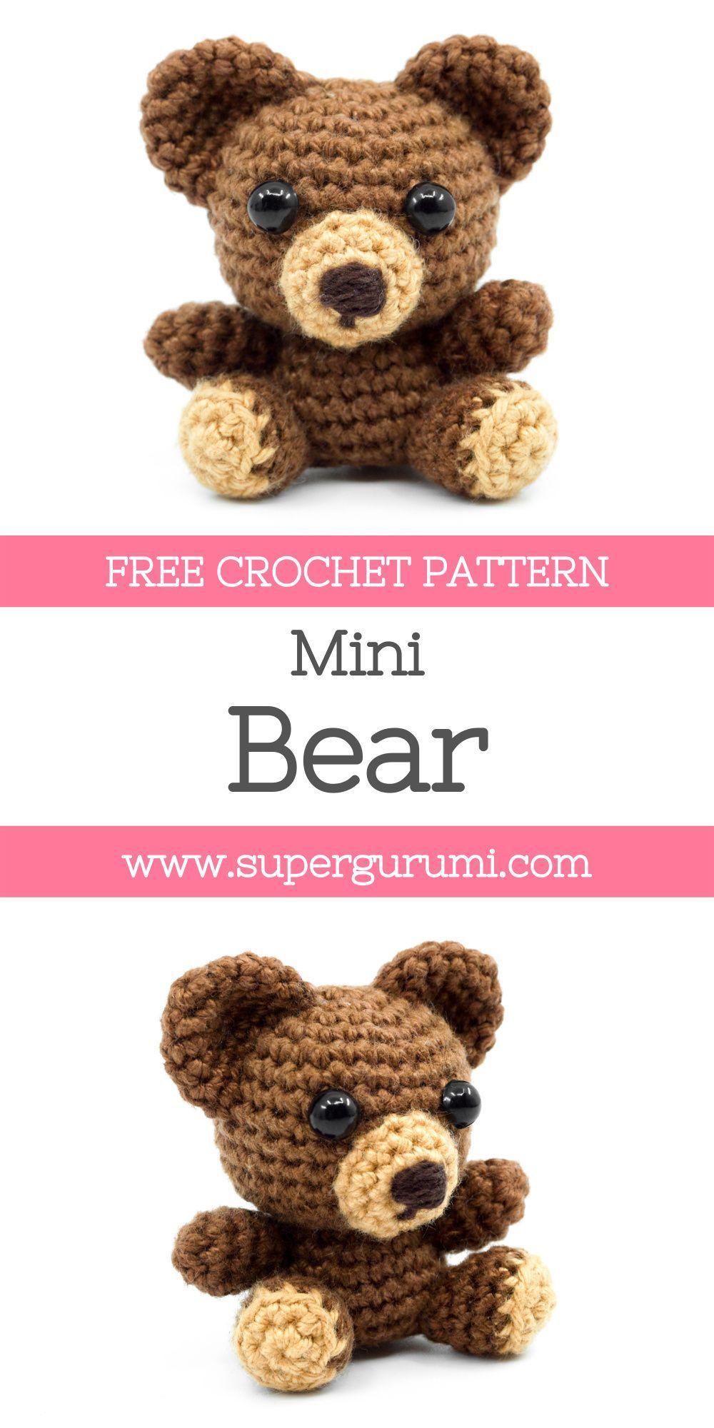 Mini Amigurumi Bear Crochet Pattern
