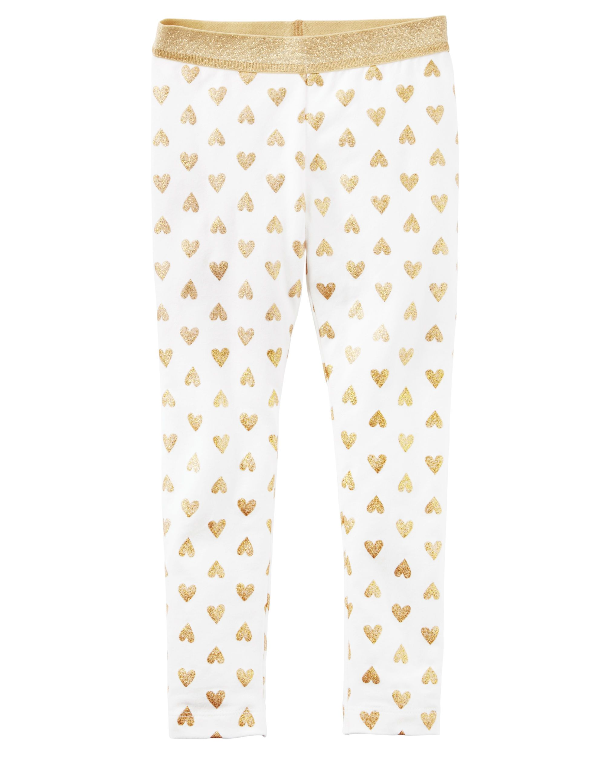 88c05fd899851 Toddler Girl Metallic Heart Legging from Carters.com. Shop clothing &  accessories from a trusted name in kids, toddlers, and baby clothes.