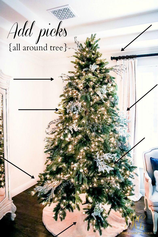 Tips For Trimming Your Christmas Tree Like A Pro Randi Garrett Design Christmas Tree Decorating Tips Floral Christmas Tree Decorate Christmas Tree Like A Pro