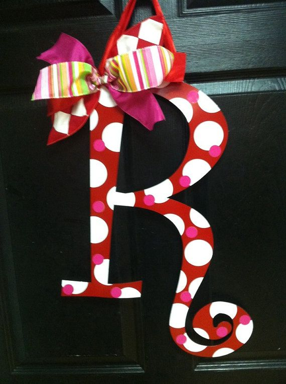 Valentine large metal letter whimsical holiday a b c d e f
