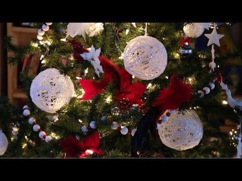 diy christmas string art glitter ball ornaments youtube - How To Make Christmas Decorations Youtube