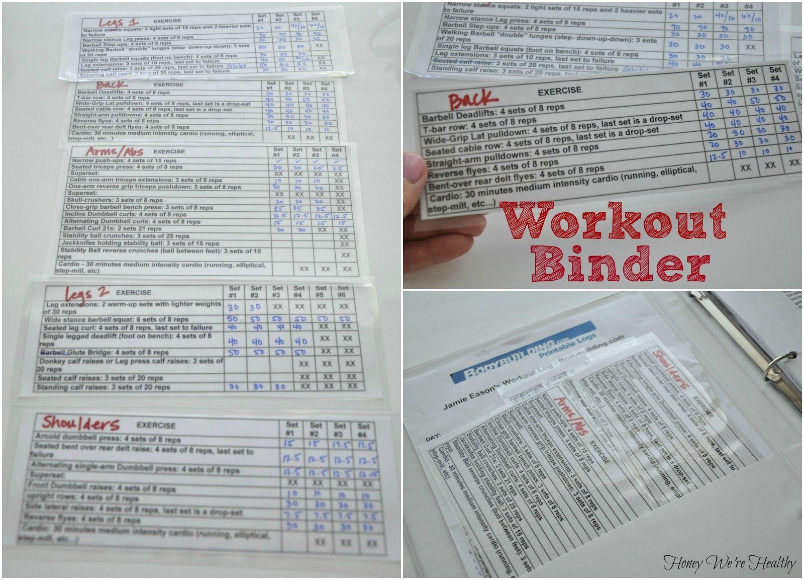 Honey Were Healthy Workout Binder Workouts Post 12 Week