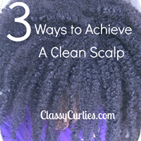 How to achieve a clean scalp with natural hair.