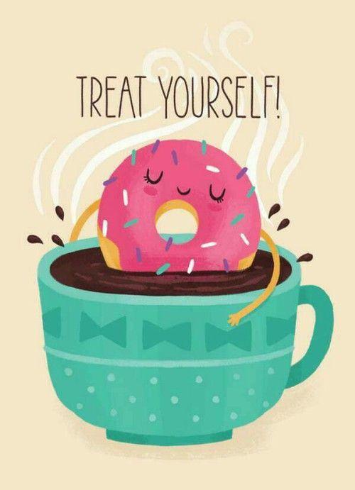 Imagem de donuts, cute, and coffee Donut art, Cute